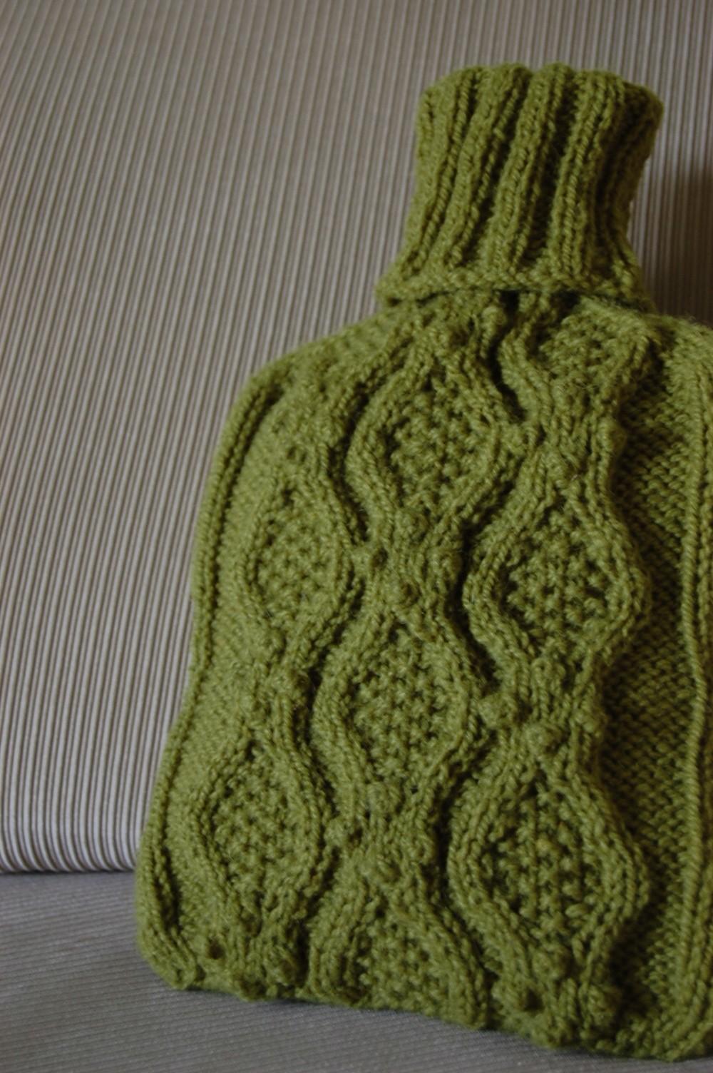 Knitting Pattern For Hot Water Bottle Cozy : Haworth Hot Water Bottle Cozy   Splendid Sparrow Handmade ...