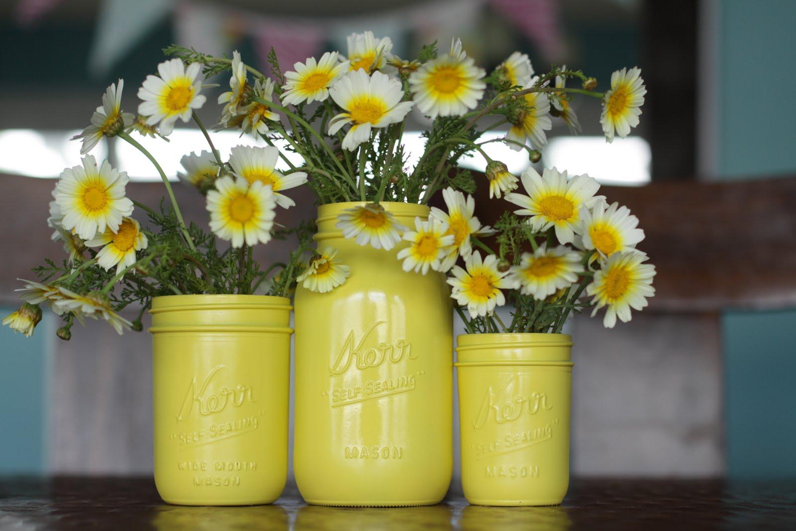 Yellow mason jars